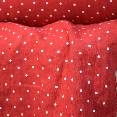 Material 100% In prespalat - Mini Dots Red