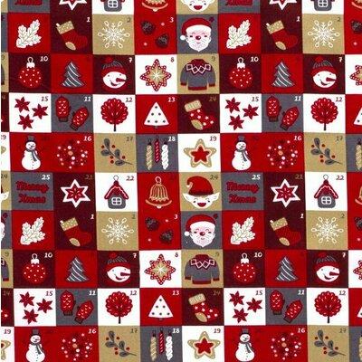 Material bumbac - Advent Calendar Red