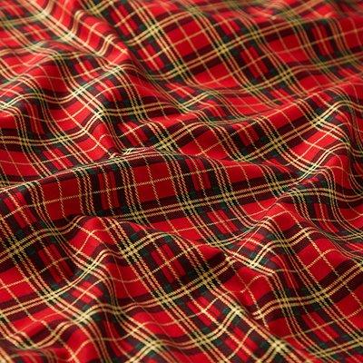 Material bumbac - Christmas Tartan Red