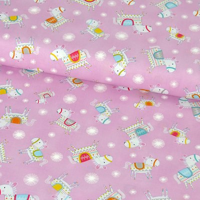 Material bumbac Free Spirit Fabrics -Happi Horses