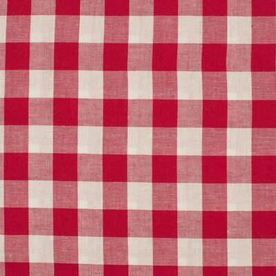 Material bumbac - Gingham Red 20mm