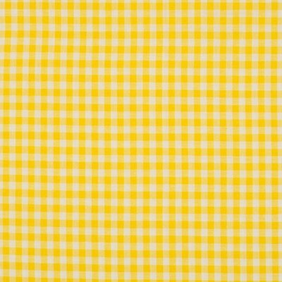 Material bumbac - Small Gingham Yellow 5mm
