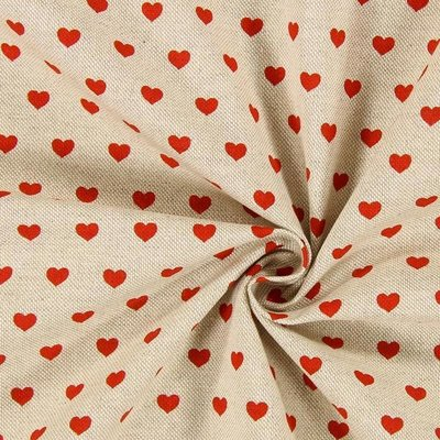 Material Canvas - Hearts Red