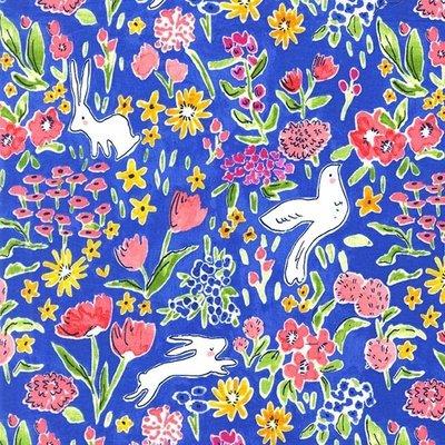 Material designer Michael Miller - Garden Blueberry