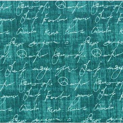 Material designer Michael Miller -Love Note Teal