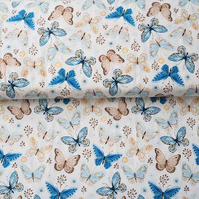Material designer print - Butterfly Garden Ivory