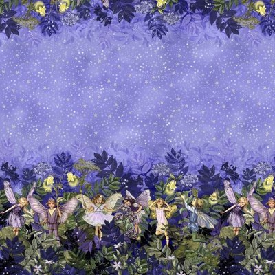 Material designer print Michael Miller - Night Fairies Border