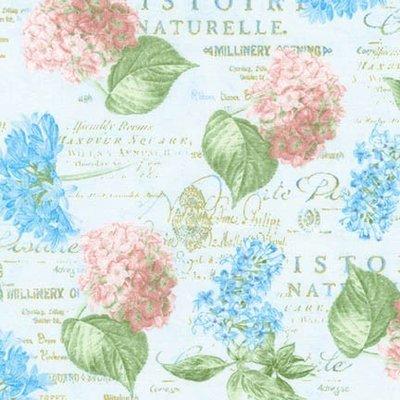 Material designer print - Palais Jardin  Hortensia Blue