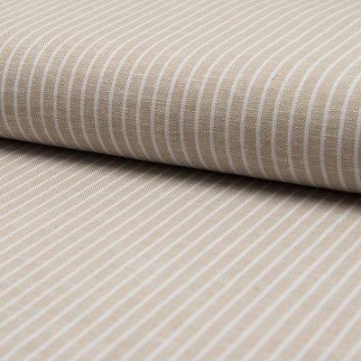Material din amestec de in si vascoza - Sand Stripe