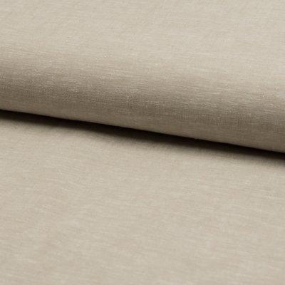 Material din amestec in si bumbac - Biege