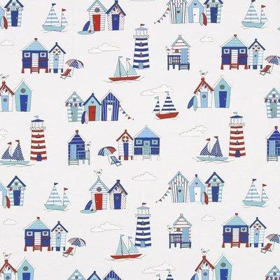 Material Home Decor - Beach Huts White