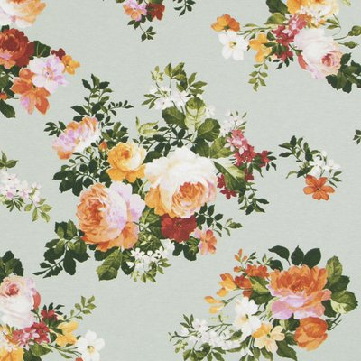 Material Home Decor - Medium Floral Mint