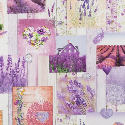 Material Home Decor Premium - Lavender Postcards