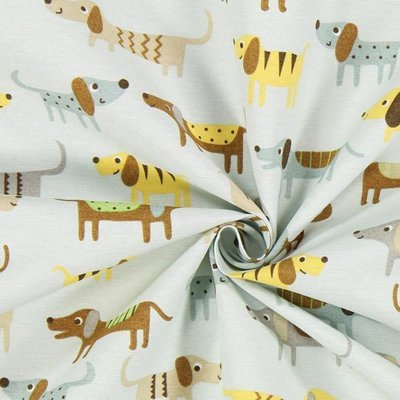 Material Home Decor - Puppies Blue