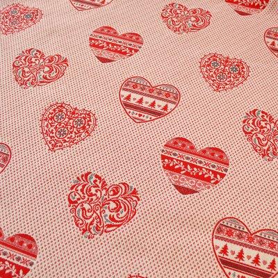 Material tesut Jacquard - Hearts - latime 280 cm