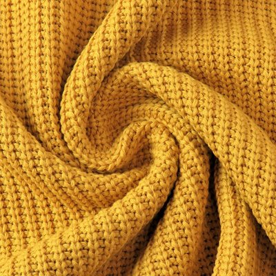 Material tricotat din bumbac - Ocre