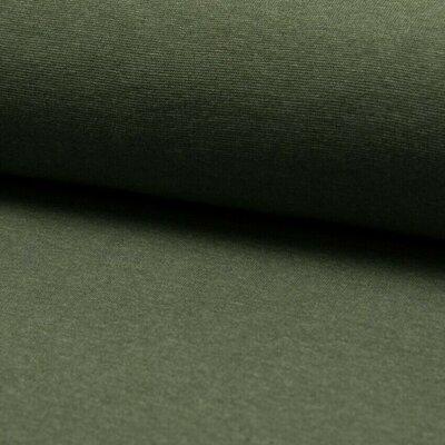 Material tubular Rib pentru mansete - Khaki Melange