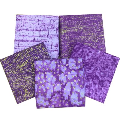 Metallic Elements Purple - Set Fat Quarters