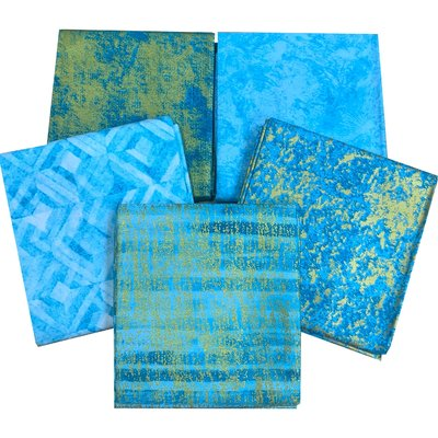 Metallic Elements Turquoise- Set Fat Quarters