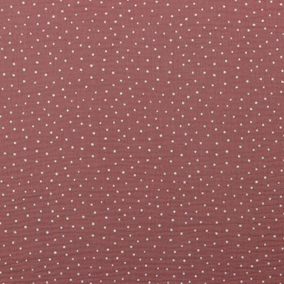 Muselina imprimata - Little Dots Dusty Rose