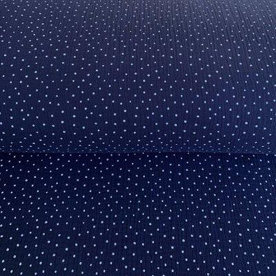 Muselina imprimata - Little Dots Navy