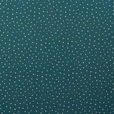 Muselina imprimata - Little Dots Petrol