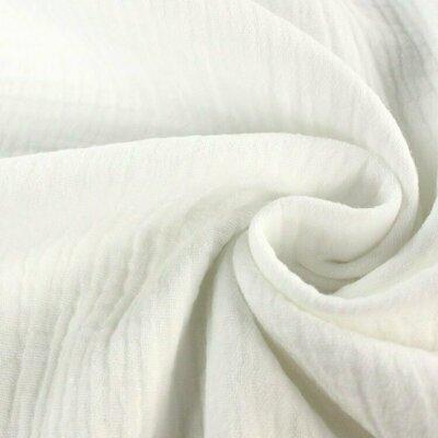 Muselina organica GOTS - White