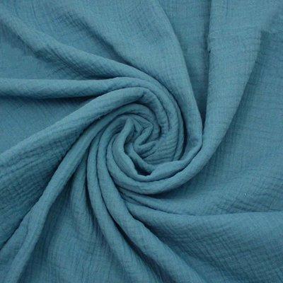 Muselina Uni - Blue Jeans
