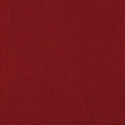 Muselina Uni Organica GOTS - Red