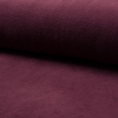 Plush Fleece din bumbac - Bordo