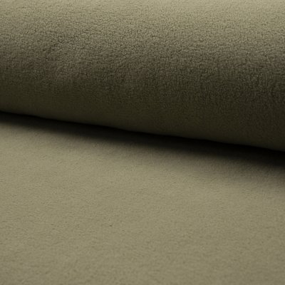 Plush Fleece din bumbac - Light Khaki