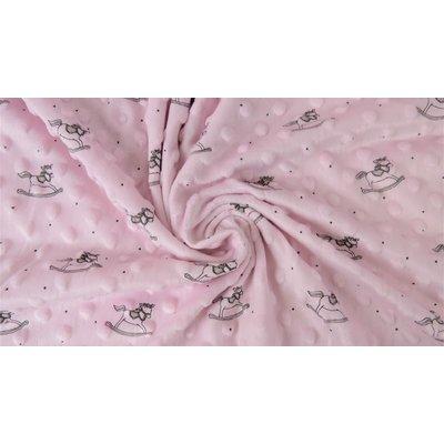 Plush Minky Dot Rocking Chair - Pink
