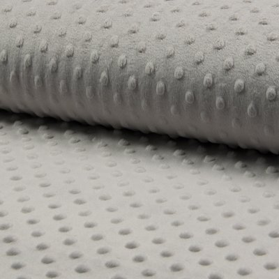 Plush Minky Dot - Silver Gray