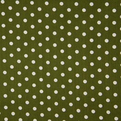 Poplin imprimat - Big Dots Khaki