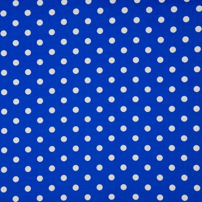 Poplin imprimat - Big Dots Royal