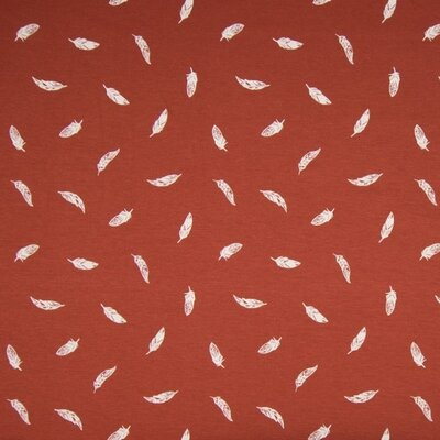 Poplin imprimat - Feather Stone