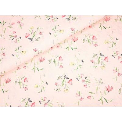 Poplin Imprimat - Flower Rose