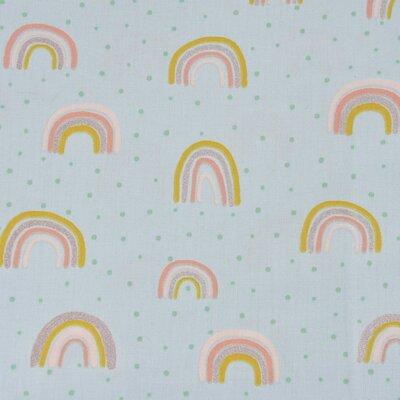 Poplin imprimat - Glitter Rainbow Mint