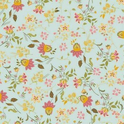 Poplin imprimat - Lovely Flowers Mint
