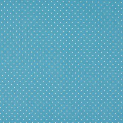 Poplin imprimat - Mini Dots Blue