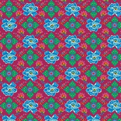 Poplin imprimat - Phae Cerise