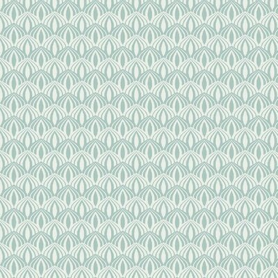 Poplin imprimat - Scallop Mint