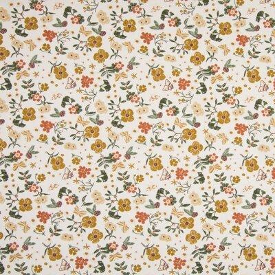 Poplin imprimat - Small Flowers Ivory