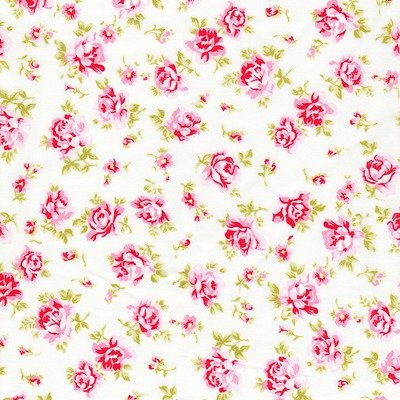 Poplin Mini Roses Mint