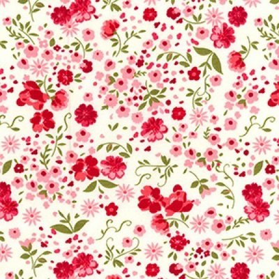 Poplin - Spring Flowers Ivory