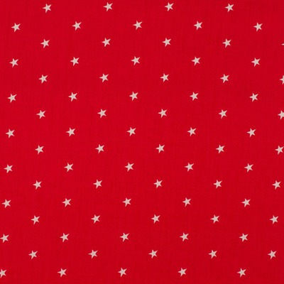 Poplin imprimat - Stars Red