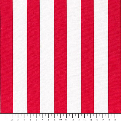 Poplin Stripes White-Red