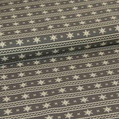 Scandi Stripes Cream on Grey