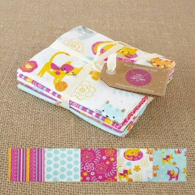 Set Fat Quarter - Cat on a mat