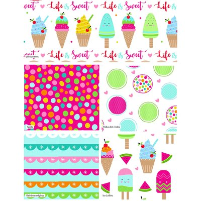 Set Fat Quarter - Ice Lolly